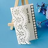 Gmgqsago fustelle bordo in pizzo floreale in acciaio al carbonio da taglio goffratura stencil DIY di carta Decor–argento