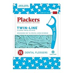 Double the cleaning power with Plackers Twin-Line Dental Flossers, 75 Count Engineered not to shred, break, or even stretch by utilizing the world's strongest dental floss, Super Tuffloss Exclusive Twin-Line dual action dental flossers easily slide b...