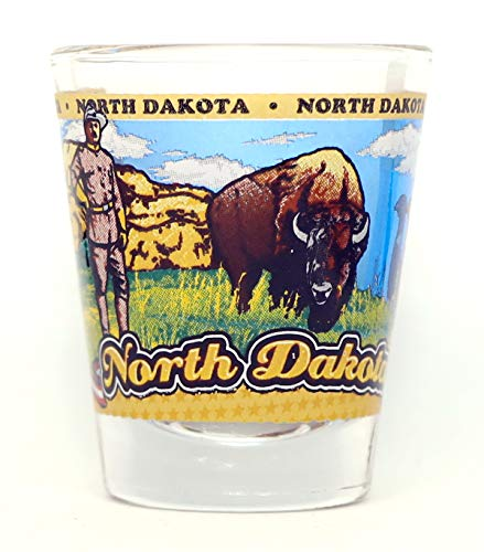 North Dakota State Wraparound Shot Glass