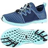 ALEADER Aquatic Water Shoes for Women, Sneakers for Walk, Hike, Run, Swim Navy/Aqua Sky 8.5 B(M) US