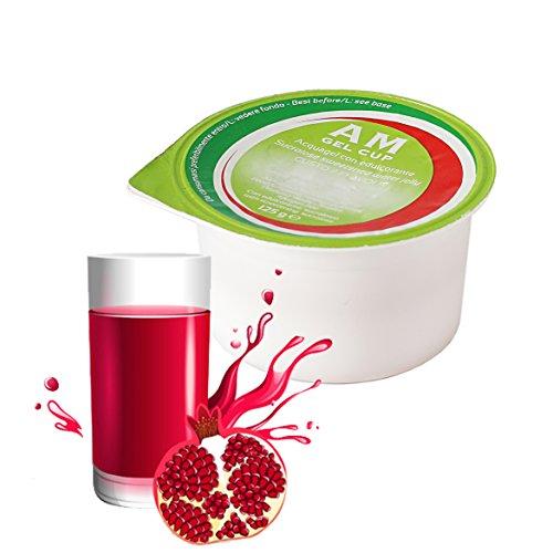 AM Gel Cup Acquagel Granatina con Edulcorante - Acqua Gelificata - 48 Vasetti da 125 g