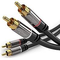 KabelDirekt 1m Cable RCA Coaxial, (Audio Estéreo Digital, 2 Conector RCA Macho a 2 Conectores RCA Macho, Cable Subwoofer, para cine en casa, alta fidelidad), PRO Series