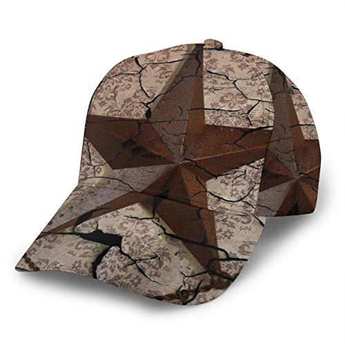 Gorra de béisbol unisex Vintage Rústico Western Country Texas Lone Star Snapback Sombreros Trucker Hat Hip...