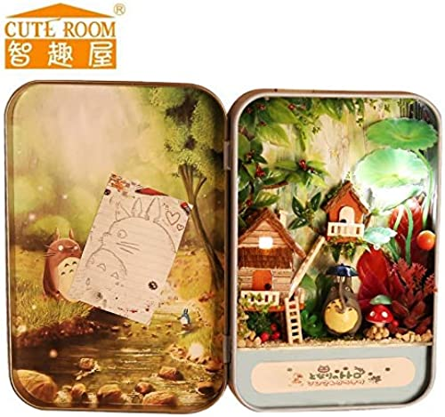 DIY Doll House Wooden Miniature Doll Houses M lbox TotGold Jungle Time Assemble Kits Handmade Model Dollhouse Toys Gifts 16.8  12.8  2cm