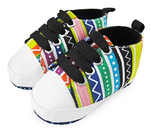 Axy Baby plastique Tapis Chaussures Chaussures bébé 0 à 12 mois – Sunshine Boy – Modèle 2 - Multicolore - Mehrfarbig,