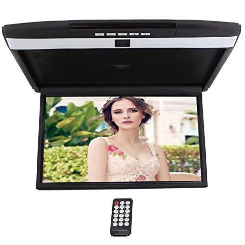 HD 17 '' TFT Digital del Coche del Monitor de Pantalla de Montaje en Techo para los Coches, Tapa de Monitor Integrado modulador de FM Reproductor de Arriba de la Entrada USB SD 2 Video