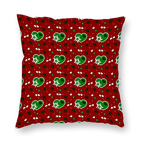 JamirtyRoy1 20 x 20 Inch Pillow Case, Red Scatter Hearts Edelweiss Alpine Flower Floral Decorative Throw Pillow Cover Cushion Case