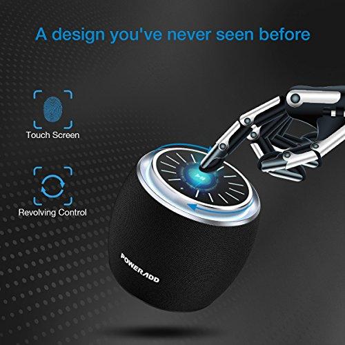 Poweradd Dee-G Mini Bluetooth Speaker, Compact Portable Wireless Travel Speakers Bluetooth 4.2 - Black