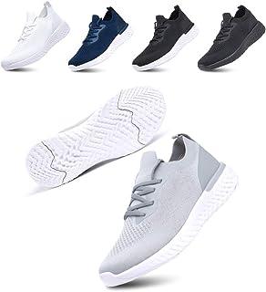 Zapatillas de Deportivas para Mujeres Zapatillas Correr Hombre Sneakers Cordones Plataforma Running Gimnasia Ligero Respir...