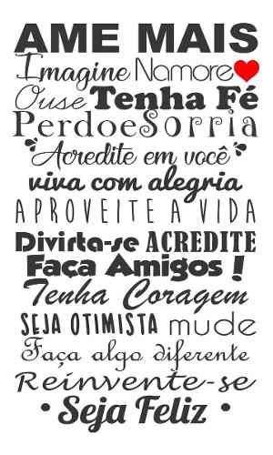 Adesivo Frase Decorativa De Geladeira E Parede Ame Mais Coração Amigos