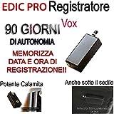 MICRO REGISTRATORE AUDIO 90 GIORNI SPY SPIA MINI AMBIENTALE USB CON CALAMITA