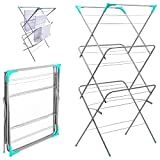 Best Clothes Airers - 3 Tier Clothes Airer Laundry Dryer Concertina Indoor Review