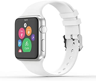 Vinyl Etchings Sport Band Compatible with Apple Watch 38/40mm 42/44mm for Women/Men,Waterproof Bands Replacement Strap Acc...