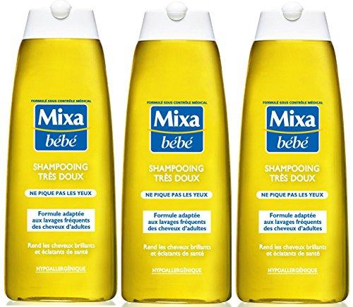 Mixa Baby Shampoo sehr zart hypoallergen 250 ml - 3er Set