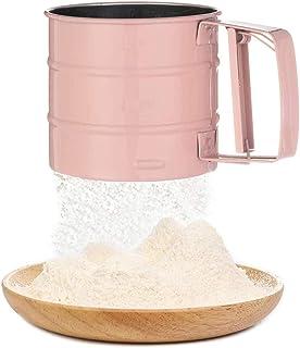 ZONSUSE Tamis Farine INOX,Tamis de pâtisserie avec échelle,Utilisé pour,Sucre Glace,Sucre en Poudre,Poudre Damande,Tamis S...