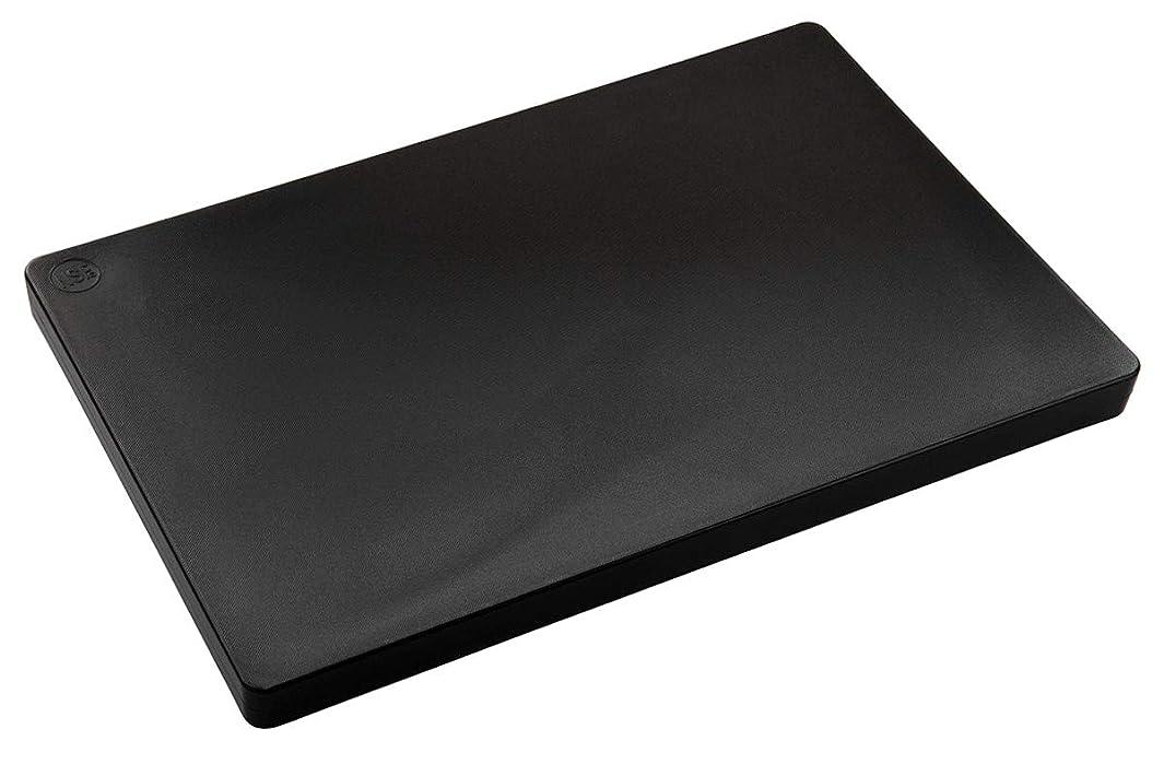 Restaurant Thick Black Plastic Cutting Board, NSF, FDA Approved - 18 x 12 x 1 Inch