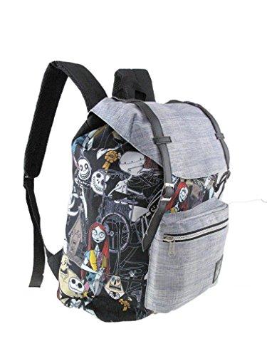 Disney Nightmare Before Christmas Pattern Vintage Style 16' School Backpack
