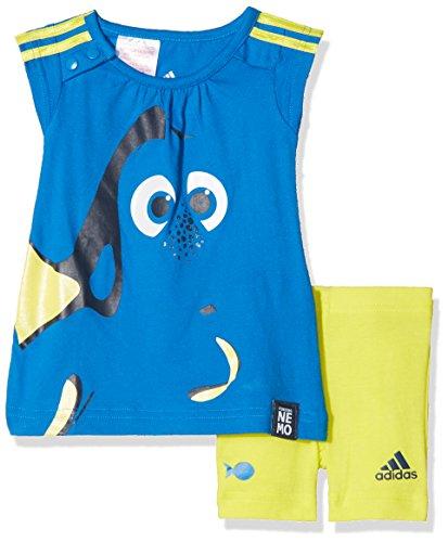 adidas Kinder Trainingsanzug INF DYQ DORY SS, Blau / Gelb, 98, 4055344226285