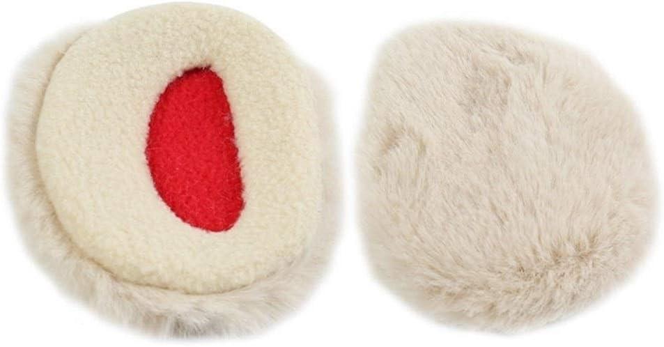 ZYXLN-Earmuffs,Bandless Ear Warmers Ear Muffs for Men & Women Fleece Bandless Ear Warmers Earmuffs Winter Ear Covers Outdoor Fleece Ear Muffs for Men Women Kids (Color : Beige, Size : L)