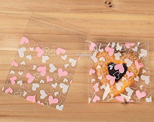 【Fuwari】袋 小袋 チョコレート クッキー キャンディー アクセサリー 小物 ラッピング 100枚 包装袋 小分け プレゼント S2 (�A)