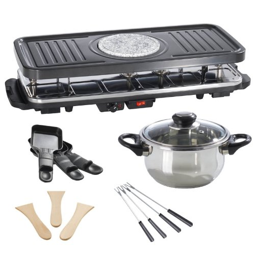 GOURMETmaxx 02460 fondue et raclette - noir