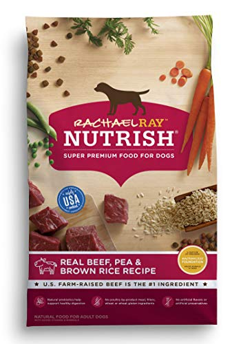Rachael Ray Nutrish Premium Natural Dry Dog Food, Real Beef, Pea, & Brown Rice...