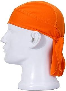 AEY Wicking Beanie Bandana, Cycling Running Adjustable Double Dry Dew Doo Rag Headwrap Headband Skull Cap Hat