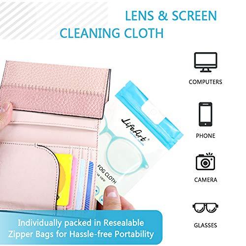 51m3PN7lS7L - Eyeglasses Anti-Fog Cleaning Cloths, Screens, Lens Wipe for All Electronic Device Screens(5 Packs Anti-Fog Wipe)