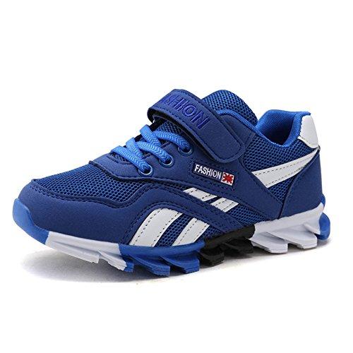 DUORO Kinder Sportschuhe Sneaker Jungen Mädchen Outdoor Atmungsaktive Turnschuhe Running Schuhe Straßenlaufschuhe (26, Blau)
