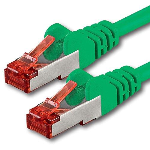 50m - verde - 1 pezzo - Cavo di Rete Cat6 Lan RJ45 1000Mbit s S-FTP CAT 6 PIMF Cavo Patch 1000Mbit s compatibile con Cat.5 Cat.6 Cat.7 Cat.8
