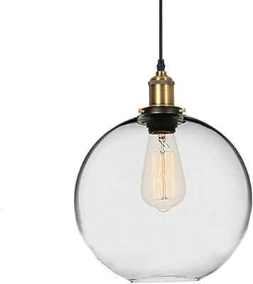 MZStech moderno Industrial Vintage lámpara E27 colgante luz ...