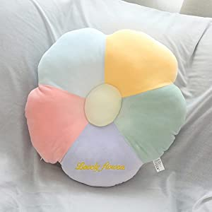 ARELUX Colorful Flower Shaped Pillow 15.7 inch,Seating Cushion Throw Pillow for Car,Chair,Pets,Cute Room Decor for Teen Girls