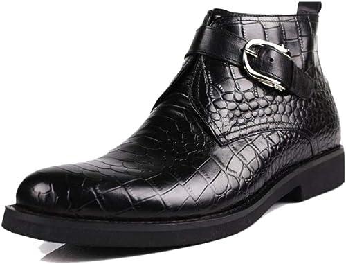 Zapatos De Trabajo De Color Borgoña negros Y Puntiagudos para hombres Transpirables De Cuero Suave Todos Los Días Adultos
