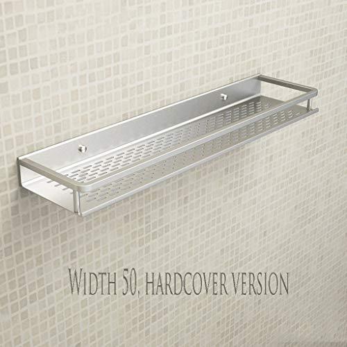 Toalla WTL Cuarto de baño montado en la Pared Doble Espacio de bañera Estante de baño de Aluminio Estante de baño toallero (Edition : 1, Size : Size 50)