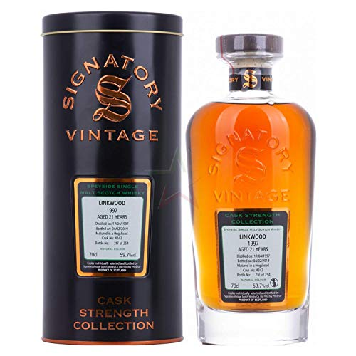 Signatory Vintage LINKWOOD 21 Years Old Cask Strength Collection 1997 Whisky (1 x 0.7 l)