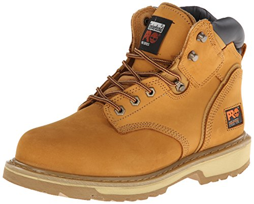 Timberland PRO 33031 Mens Pit Boss 6' Steel Toe Work Boots (Wheat, 10 M US)