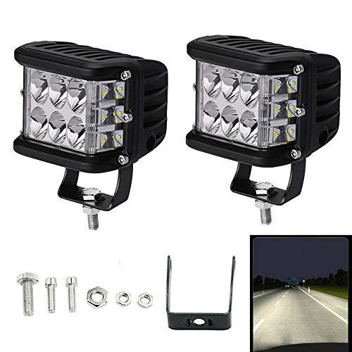 LED Arbeitsscheinwerfer, 2x 45W 4 Zoll Zusatzscheinwerfer 12V 24V, Scheinwerfer Wasserdicht IP67, Rückfahrscheinwerfer für Auto, Traktor, Offroad, PKW, KFZ, ATV-Boot (2 Pcs)