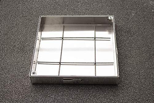 Schachtabdeckung Aluminium SAP-80/5A Schachtdeckel auspflasterbar 800x800 befliesbar bepflanzbar befüllbar wasserdicht Höhe 50mm