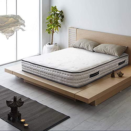 Best Prices! Spectra 12 Inch Cooling Fabric Cover Plush Memory Foam & Pocket Coil Mattress (King, Wh...