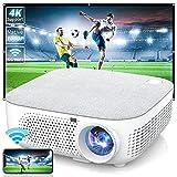 WISELAZER Proyector Full HD 1080P Nativo ,7500 Lúmenes Proyector Soporte 4K Función de Zoom WiFi 5G Cine en Casa para Pc,TV Stick,etc.
