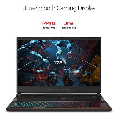 "ROG Zephyrus S Ultra Slim Gaming Laptop, 15.6"" 144Hz HDR IPS Type FHD, GeForce RTX 2080, Intel Core i7-9750H Processor, 16GB DDR4, 1TB PCIe NVMe SSD, Aura Sync RGB, Windows 10 Pro, GX531GX-XB77"