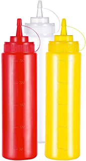 4 Pack 250ML Squeeze Squirt Condiment Bottles Multi Purpose for Condiments Sauce Ketchup BBQ Dressing Mustard Olive Oil