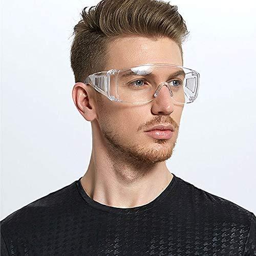 Occhiali di Sicurezza Protezione, Occhiali Protettivi Resistenti AntiGraffio Agli Schizzi e Anti-Appannamento Antivirus Occhiali Trasparenti Professionali (Occhiali A)