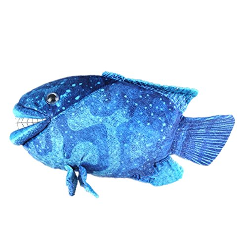 "Cuddly Soft Stuffed Animal Toy 18"" Emulation Tropical Fish Blue Cichlid Fish Doll Party Toys Kids' Plush Pillows Cushion Fiesta Toy for Graduation Birthday Xmas Christmas Best Gifts"