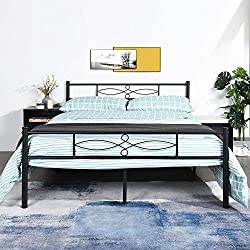 1.Add a touch of elegance to your bedroom with this Metal bed and make the most out of your bedroom space with this Multi-functional metal Bed 2.Good quality metal frame,Strong steel tubing construction and Full-length guardrails provide the safety a...