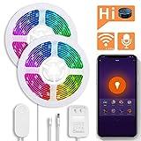 BRTLX Alexa Echo/Google Home対応 スマート ledテープライト 3m*2本 IP65防水 wifi制御 PSE認証 RGB LEDストライプライト 調光調色 スマホアプリ制御 イルミネーションライト