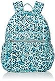 Vera Bradley Women's Signature Cotton Campus Backpack, Cloud Vine, One Size