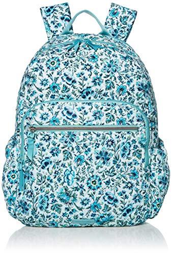 Vera Bradley Women's Iconic Signature Cotton Campus Backpack, Cloud Vine, One Size