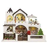 HE TUI Juguete DIY Ropa para niños Casa de muñecas Decoración Casa de Madera ensamblada a Mano Casa Villa Regalo de cumpleaños