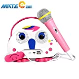Kids Bluetooth Karaoke Machine with Microphone, Children's Karaoke Wireless Speaker Beach Wireless Cartoon Speaker for Indoor Outdoor Travel Activities Party Best Christmas Birthday Gift for Children